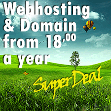 18 euro webhosting deal + free domain